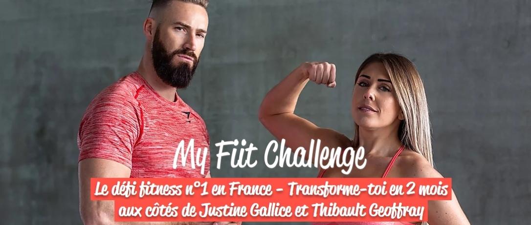 My Fiit Challenge de Justine Gallice et Thibault Geoffrey