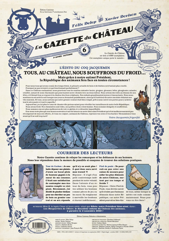 Le Chateau des Animaux - T06 - la Gazette du Chateau de Dorison Felix Delep
