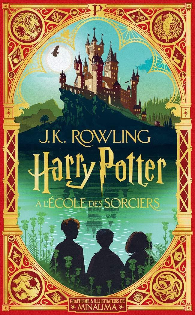 Harry Potter, illustré (MinaLima), tome 1 : Harry Potter à l'école des sorciers de J. K. Rowling et MinaLima